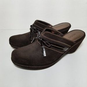 Ecco suede leather mules brown size 38 tas…